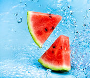 Watermelon and water Royalty Free Stock Photos