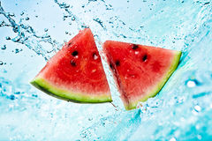 Watermelon and water Stock Photos