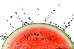 Watermelon and water splash Royalty Free Stock Images