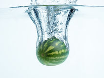 Watermelon in water splash Stock Photography