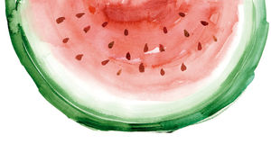 Watermelon watercolour Stock Image