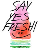 Watermelon. Watermelon slice watercolor illustration. Royalty Free Stock Image