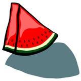 Watermelon Wedge. Cute Watermelon slice wedge vector cartoon Stock Photo