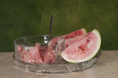 Watermelon wedges Stock Photos