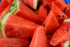 Watermelon Wedges Closeup Stock Photos