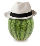 Watermelon whit hat Stock Photo