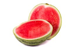 Watermelon on white Stock Images