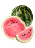 Watermelon on white royalty free stock image