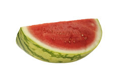 Watermelon on a white background. Slice of fresh ripe watermelon on a white background stock image