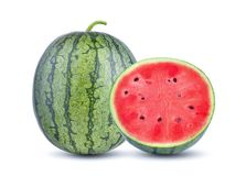 Fresh watermelon on white background. with clipping path stock photography
