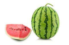 Watermelon on white background royalty free stock photography