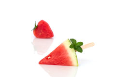 Watermelon on  white background. Stock Images