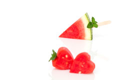 Watermelon on  white background. Royalty Free Stock Photography