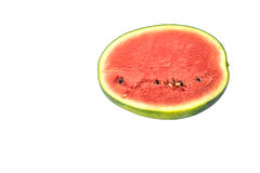 Watermelon on white background. Selective focus with shallow depth of field Royalty Free Stock Photo