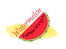Watermelon.  on white background. Vector Royalty Free Stock Photos