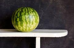 Watermelon on white board Stock Photo