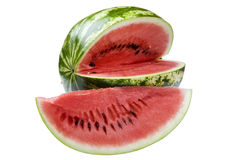 Watermelon on white close up Stock Photos