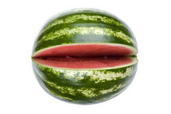 Watermelon on white macro Royalty Free Stock Photos