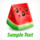 Watermelon on white & text Royalty Free Stock Images