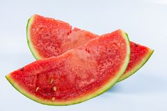 Watermelon on a white stock photography