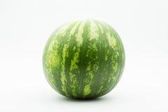Watermelon on whitebackground. Striped watermelon on whitebackground - isolated Stock Image