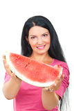 Watermelon woman royalty free stock photos
