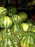 Watermelons. At stall stock image