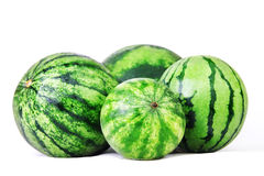 Watermelons. Group of sweet watermelon isolated on white Stock Photos