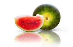 Watermelons isolated on white Stock Photos