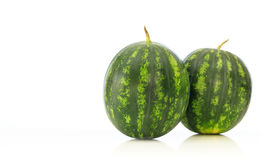Watermelons isolated on white background Stock Photos