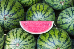 Watermelons in the market Royalty Free Stock Photography
