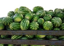 Watermelons market summer background royalty free stock photos