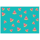 Watermelons pattern,background. Simply beautiful abstract watermelons pattern,background Vector  can be useful like a logo,emblem,tag,sticker, icon on website or Stock Images
