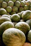 Watermelons Piled High In Truck At Farmers Market Royalty Free Stock Photos