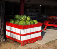 Watermelons Roadside Royalty Free Stock Photos