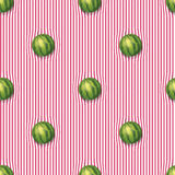 Watermelons on the tablecloth Royalty Free Stock Images