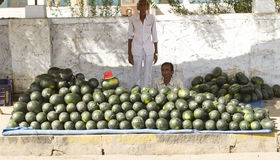 Watermelons vendor Royalty Free Stock Images