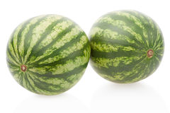 Watermelons on white, clipping path Stock Photos
