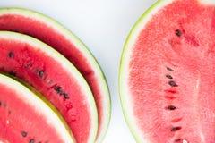 Watermelos skivor Arkivfoton