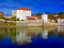 Watermening van Passau, Duitsland royalty-vrije stock afbeelding