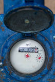 Watermeter in kubieke centimeters Stock Afbeelding