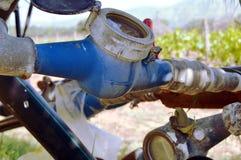 Watermeters in de campagne Stock Foto