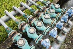 Watermeters Stock Photo