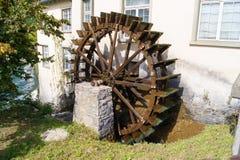 Watermill轮子 免版税库存图片