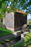 Watermill στο υπαίθριο μουσείο σε Olsztynek (Πολωνία) Στοκ φωτογραφία με δικαίωμα ελεύθερης χρήσης