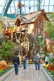 Watermill в парнике на гостинице Bellagio в Лас-Вегас стоковые фотографии rf