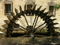 Watermill. Wooden wheel of old watermill Stock Image