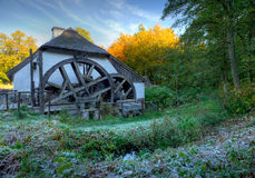 Watermill. One morning with frost Royalty Free Stock Image