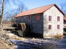 Watermill. An old watermill house Stock Photo