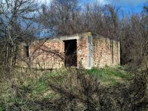 Watermill abandonado imagem de stock